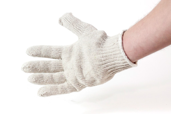 white cut resistant glove