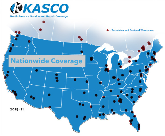 kasco service and repair coverage us canada